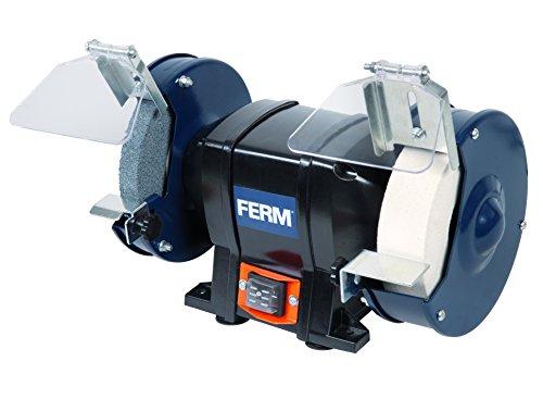 FERM Doppelschleifmaschine 250W - 150mm - Incl. P36 und P60 Schleifsteinen, Schutzbrille und Funkenfnger