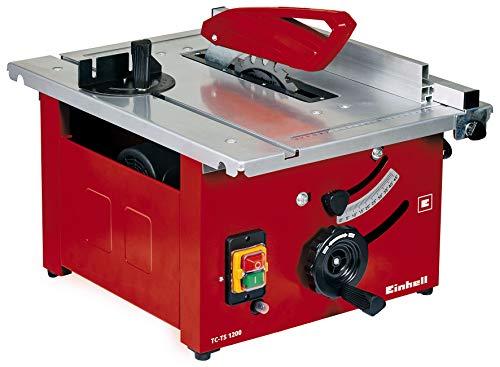 Einhell Tischkreissäge TC-TS 1200 (900 W, 4800 min-1, pulverbeschichteter Sägetisch, Winkeleinstellung für...