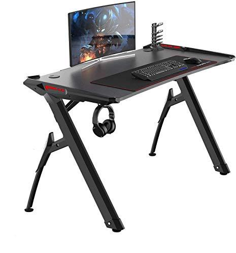 soges Gaming Tisch Gaming Schreibtisch Gaming Desk Computertisch Gamer Pro Tisch mit LED-Leuchten...