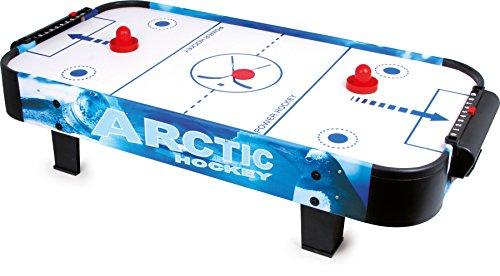 small foot 9878 Air-Hockey-Spieltisch aus Holz und Kunststoff, mit einem Puck und zwei Schlägern, ab 3 Jahren