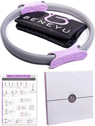 beneyu ® Rutschfester & Superleichter Pilates Ring - Oberschenkeltrainer - 36cm +Tasche +Übungen (lila...