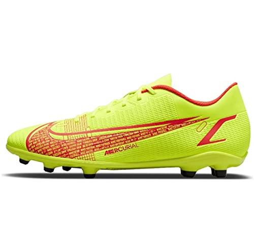 Nike Unisex Vapor 14 Club FG/MG Soccer Shoe, Volt/Bright Crimson, 39 EU