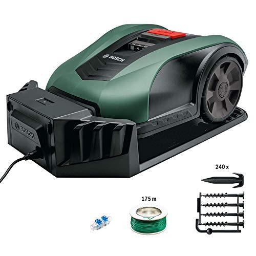 Bosch Roboter Rasenmäher Indego M+ 700 (mit App-Funktion, 19 cm Schnittbreite, für Rasenflächen bis 700...
