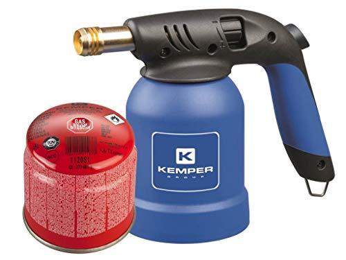 Lötlampe mit Piezo Zündung Bunsenbrenner Lötbrenner Gasbrenner inkl. 1 Gaskartusche Stechkartusche