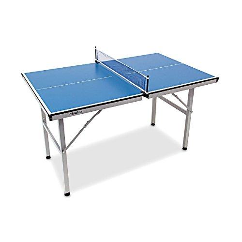 Relaxdays Tischtennisplatte Midi klappbar, Indoor u. Outdoor, Tischtennistisch m. Netz, HxBxT: 75 x 75 x 125...