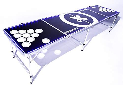 LED Beer Pong Tisch Set - Audio Table - inkl. 90 Becher, 6 Bälle und Halter für Festivals, Partys und...