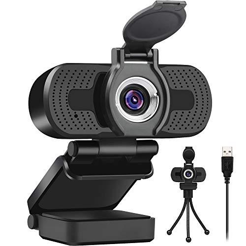 LarmTek Webcam 1080P HD Videokamera mit Webcam Abdeckung,USB Webcam mit Eingebautes Mikrofon,Mini Plug and...