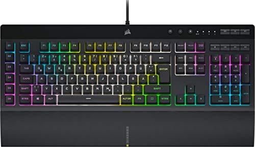 Corsair K55 RGB PRO XT Kabelgebundene Membran-Gaming-Tastatur (Dynamische RGB-Hintergrundbeleuchtung, 6...