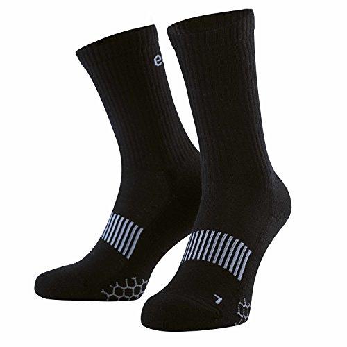 umi. Eono Essentials Sport Socken für Herren und Damen (3er-Pack), Schwarz, EU 43-46