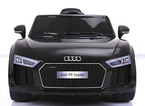 Audi R8 Spyder Elektrisches Auto für Kinder, Schwarz, Original lizenziert, batteriebetrieben,...