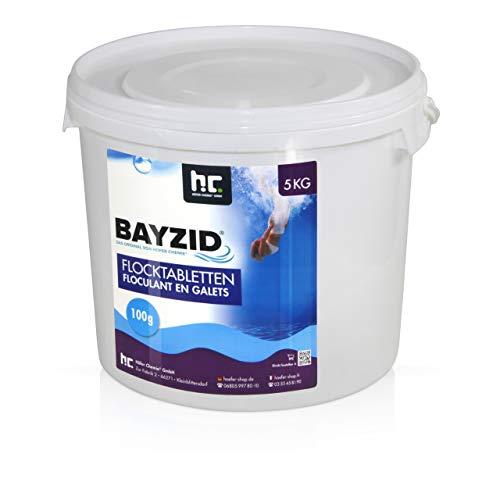 Höfer Chemie 1 x 5 kg Pool Flockungsmittel Tabletten BAYZID einfache Anwendung gegen Trübungen +...