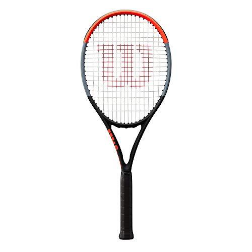 Wilson Tennisschläger, Clash 100UL, Unisex, Erwachsene, Griffgröße: 4 1/4, Graphit, schwarz/grau/rot,...