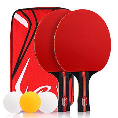 Zorara Tischtennisschlaeger Set, Tischtennisschlaeger, Tischtennisschläger, Tischtennis Set, 2 Schläger 3...
