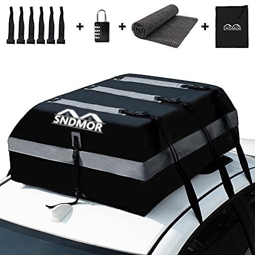 SNDMOR Dachboxen,21 Kubikfuß wasserdichtes Dachgepäck, Dachgepäcktransporttasche,passend für alle...