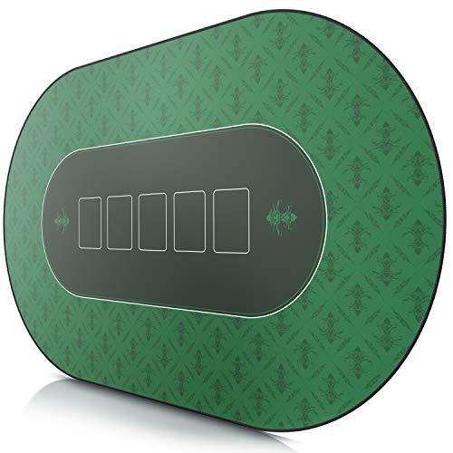 CSL - XXL Deluxe Pokermatte 1000x600mm - XXL Poker Unterlage Pokertisch mit Motiv - Tischunterlage Large Size...