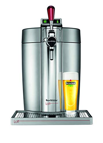 Krups VB700E00 Beertender Loft Edition Bierzapfgerät, Silber/Chrom