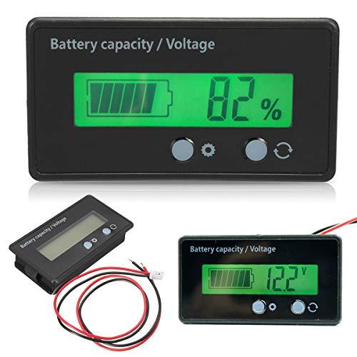 Batteriemessgerät - LCD-Display mit Hintergrundbeleuchtung Universelles...