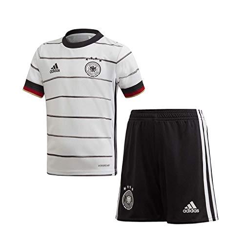 Adidas Kinder DFB H MINI Football Set, top:white/Black bottom:black, 4-5Y (Manufacturer size:XXS)