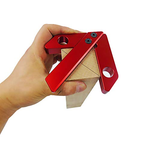 SAIBANGZI Messwerkzeug für Holzarbeiten, Mittelpunktsmesser, 45/90-Grad-Winkelmaß-Tischlerlineal