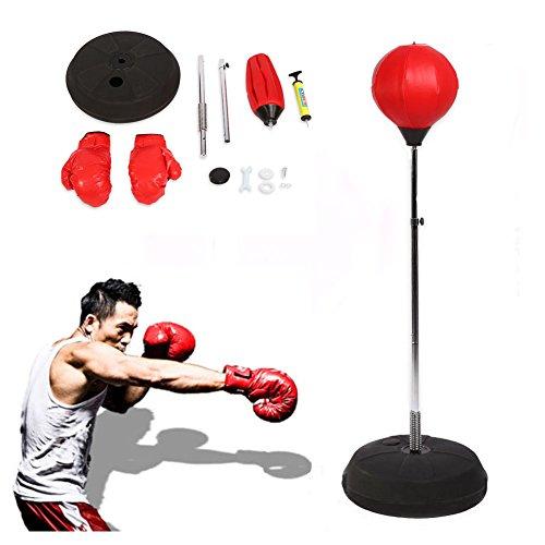 SOULONG Erwachsene Punchingball Standboxsack Boxen Set Standbox Handschuhen Punching-Training Verstellbar...