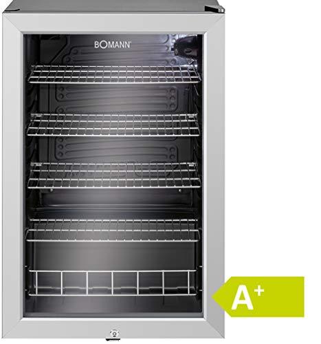 Bomann KSG 238.1 Glastr-Getrnke-Flaschen-Khlschrank, EEK A+, 115 L, HxBxT 84,5x54x54,8 cm, 110 kWh, LED...