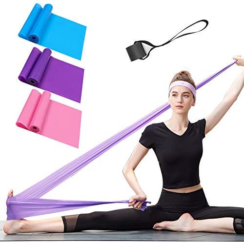 ERUW Fitnessbänder 3er-Set Gymnastikband Widerstandsbänder Elastisch Stretching Bänder Übungsband...