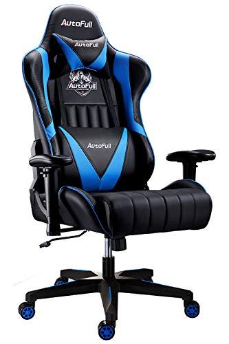 AutoFull Gaming Stuhl Schreibtischstuhl Gamer Ergonomischer Bürostuhl mit hoher Rückenlehne und...