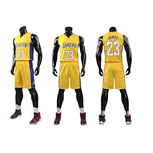 Kinder Herren NBA Basketball Trikots Set - Bulls Jordan 23, Lakers 23 James/24 Bryant, Warriors 30 Curry/35...