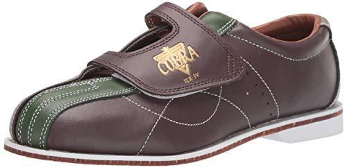 TCR 3V Cobra Rental Bowling-Schuhe für Herren, Haken- und Schlaufenschuhe, Braun/Grün, Größe 43