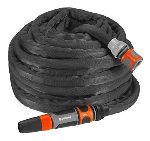 Gardena Textilschlauch Liano Set 20m: flexibler und robuster Gartenschlauch aus Textilgewebe, Schlauch ideal...