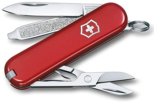 Victorinox Taschenmesser Classic SD (7 Funktionen, Schere, Nagelfeile mit Schraubendreher) rot, 58 mm