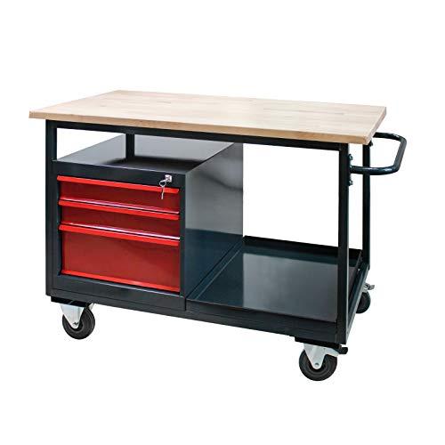 Tischwagen Arbeitswagen Werkbank mit Rollen'Eko 2' mit 3 Schubladen
