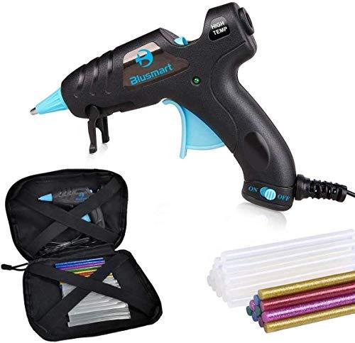 Aktualisierte Blusmart Heißklebepistole, 20W hohe Temperatur, 20 Klebestifte und 10farblichen Stiften,...