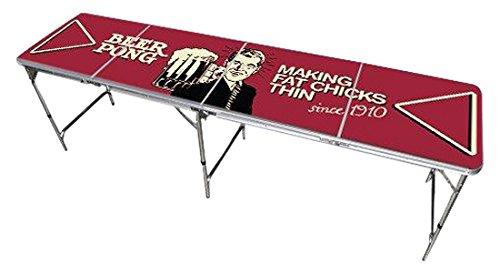 Red Cup Pong Klappsessel 8Beer Pong Tisch mit Flaschenöffner, Ball Rack und 6Pong...
