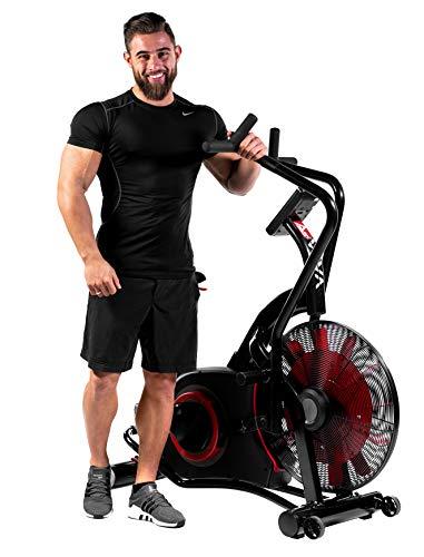 AsVIVA Heimtrainer,Ergometer Air-Bike Pro, Turbinen Trainer mit Riemenantrieb, Fitnesscomputer mit 7...