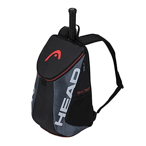 HEAD Unisex-Erwachsene Tour Team Backpack Tennistasche, schwarz/grau, Einheitsgröße
