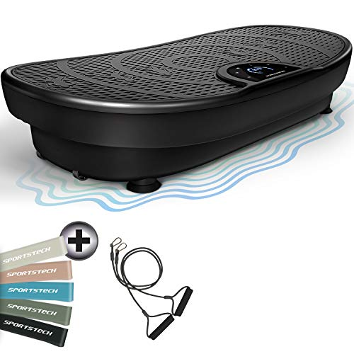 Messe-Neuheit! VP250 Vibrationsplatte im Edlen Curved Slim Design | Fett-Verbrennung & Muskelaufbau | leiser...
