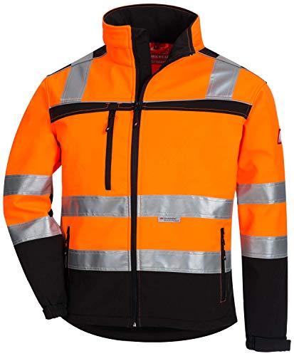 Nitras Motion TEX Viz 7170 Softshell-Warnschutzjacke - EN 20471 - Orange - M