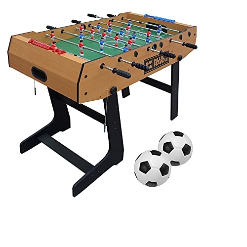 BLUE HAWAII Kickertisch inkl2 BälleKlappbar , 121x61x85 Faltbare Tischkicker Tischfußball