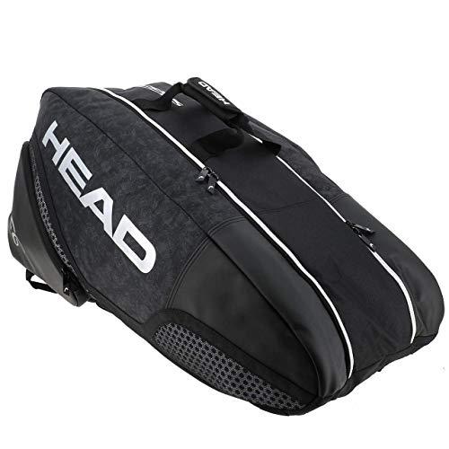 HEAD Unisex– Erwachsene Djokovic 9R Supercombi Tennistasche, Black/White, 77 x 35 x 39