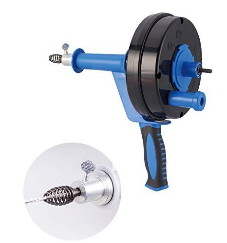 HARTOOL Rohrreinigungsgerät mit Spirale 6.35mm X 7.6M Rohrreinigungsspirale ausziehbar Abflussspirale ideal...