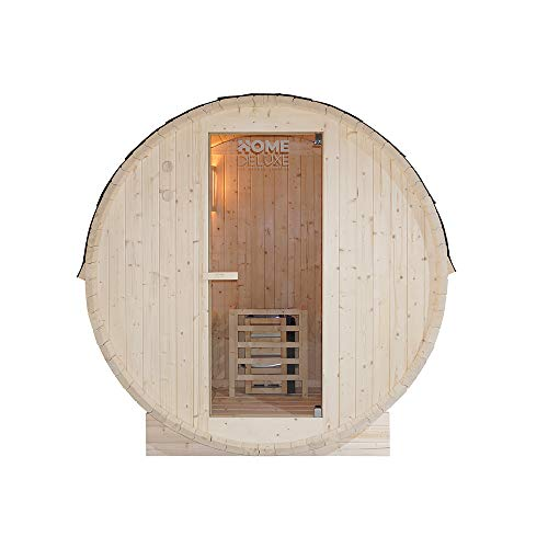 Home Deluxe - Outdoor Fasssauna 4 Personen - Lahti L mit Elektroofen - Holz: Fichtenholz - Maße: BxTxH: ca....