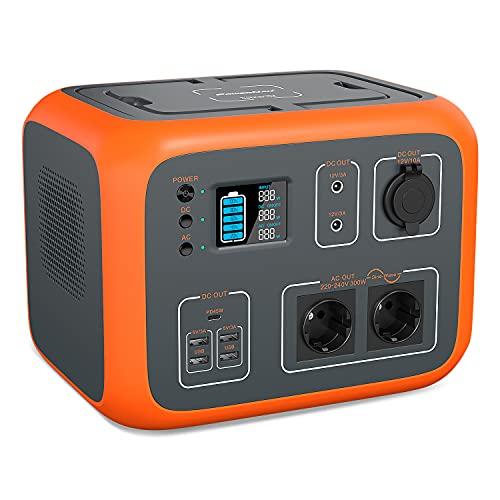 PowerOak AC50S PowerStation 500Wh Solargenerator Lithium Mobiler Stromspeicher mit 230V...