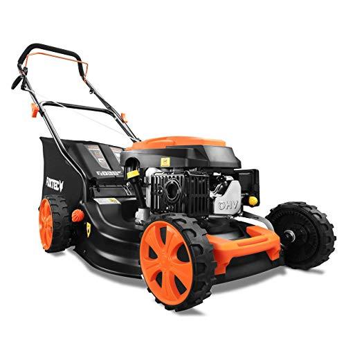 FUXTEC Benzin Rasenmher FX-RM4646ECO getestet mit Note 1,4 in der HeimwerkerPraxis Motor mit Easy Clean 3in1...
