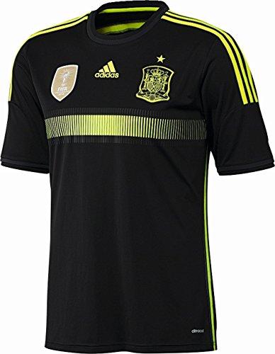 adidas Herren Spanien Auswärtstrikot, Black/Electricity/Dark Shale, M, F39821
