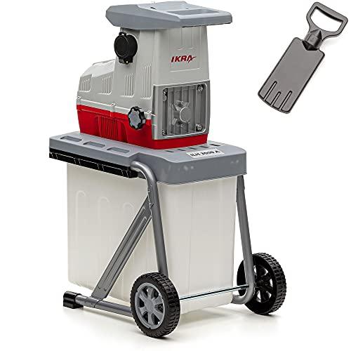 IKRA 81002880 Elektro Gartenhäcksler Walzenhäcksler ILH 3000 A, leise robust wartungsarm, Starke 3.000 Watt,...
