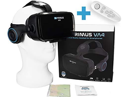 VR-PRIMUS® VA4 - VR Brille für Handys. Kompatibel mit iPhone X XS XR 11 Pro und Android Handys bis 6.2 Zoll...
