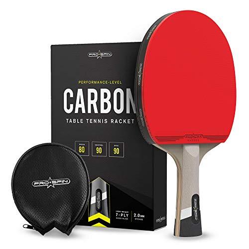 PRO Spin Tischtennisschläger mit Kohlefasertechnologie | Tischtennisschläger auf Leistungsniveau | Sehr...