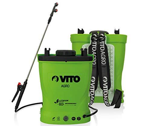 VITO Garden 16 Liter Lithium Akku Drucksprüher Akku Rückenspritze Drucksprühgerät - rückentragbarer...