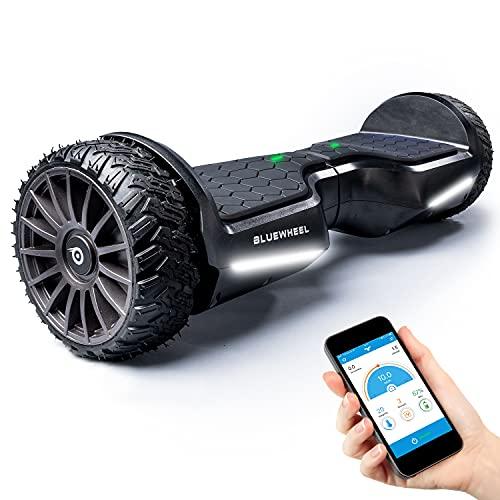 BLUEWHEEL 6,5' Premium Offroad-Hoverboard   App-kompatibel + Bluetooth Lautsprecher & LED Leuchte Self Balance...